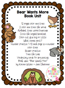 Bear Wants More Book Unit