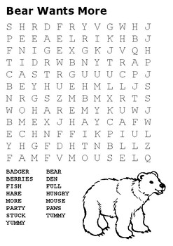 Bear Wants More Word Search