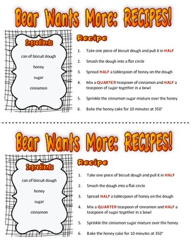 Bear Wants More (by Karma Wilson) Resource Pack