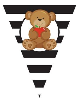 Bear With Apple - Classroom Decor