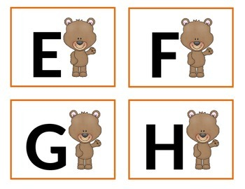 Bear Word Wall Letters - Alphabet Cards.