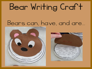 Bear Writing Craft