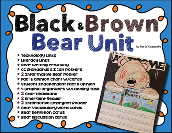 Bear Writing and Craft Unit -Total Unit ~ Vocabulary ~ Gra