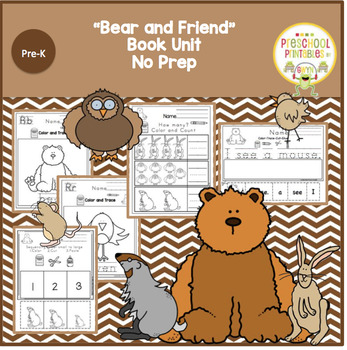 "Bear and Friends Book Unit ""No Prep"""