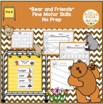 Bear and Friends Fine Motor Skills