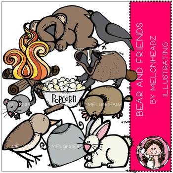 Melonheadz: Bear and Friends clip art - COMBO PACK