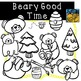 Bear and Honey Clip Art by Kid-E-Clips Commercial and Personal