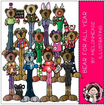 Bear for all year clip art- by Melonheadz