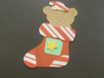 Bear in Stocking Template