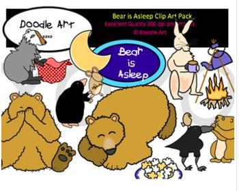 Bear is Asleep Clipart Pack