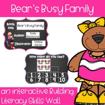 Bear's Busy Family - an interactive skill building wall