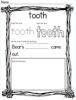 Bear's Loose Tooth Book Companion