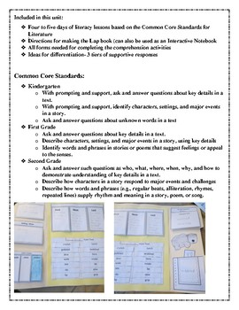 Bear's Loose Tooth Interactive Notebook or Lapbook Close Read UNit