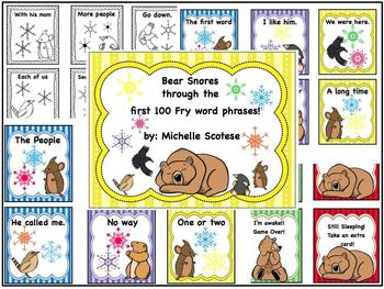 Bear snores through the first 100 Fry Word Phrases!