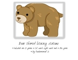 Bear themed literacy stations