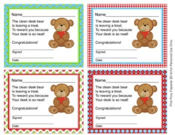 Bear with Apple Clean Desk Awards