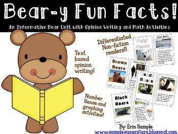 Bear -y Fun Facts {An Informative ELA Opinion Writing Unit