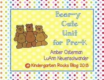Bear-y Cute Unit for Pre-K