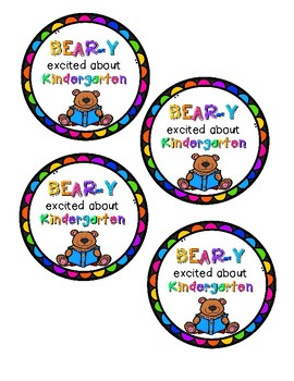 Bear-y Excited / Back to School Tags