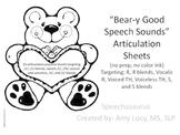 Bear-y Good Speech Articulation Practice Sheets