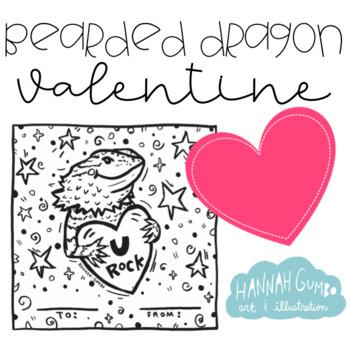 Bearded Dragon Valentine EDITABLE
