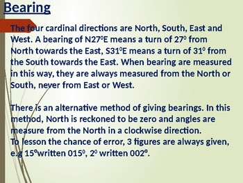 Bearing And Distance