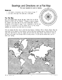 Bearings and Directions on a Flat Map