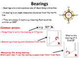Bearings lessons - BUNDLE (Estimating, measuring and drawing bearings)