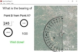 Bearings using a protractor - Interactive