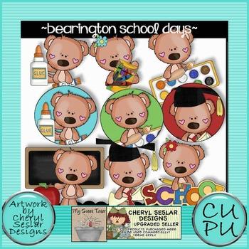 Bearington Bears School Days Clipart