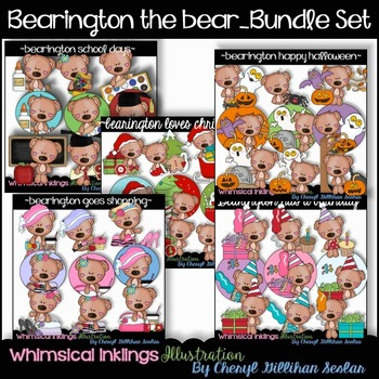 Bearington The Bear Bundle Clipart Collection