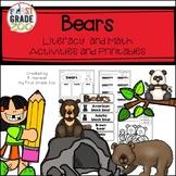 Bears - Literacy and Math Activities