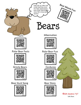 Bears, Bears, Bears using QR Codes