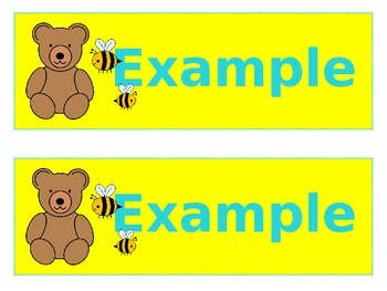 Bears & Bees Large Name Tags