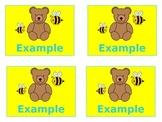 Bears & Bees Small Name Tags