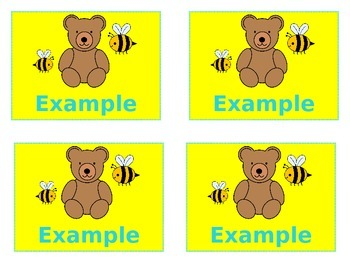 Bears & Bees Small Name Tags