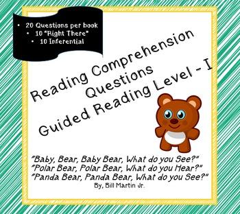 3 Book; Bill Martin Jr. Bundle- Question Bank; Guided Read