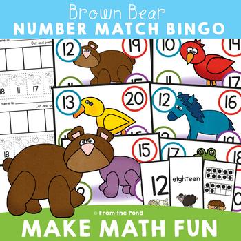 Bear's Bingo - Numbers to 20 Math Center Game