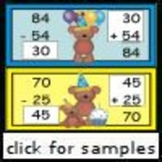 Bear's Birthday Facts (2.NBT.5, 2.NBT.9) (2 Digit Addition and Subtraction)