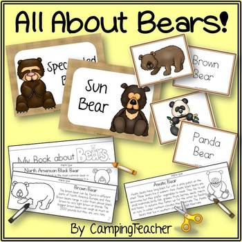 Bear Activities Book to Cut and Create, Matching Cards for