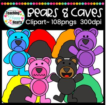 Bears & Caves Clipart