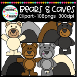 Bears & Caves Clipart