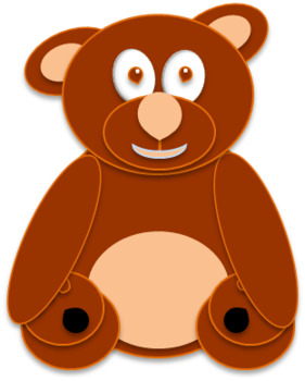 Colorful Counting Bears Clipart