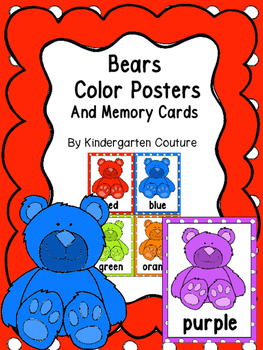 Bears Color Posters And Memory Cards