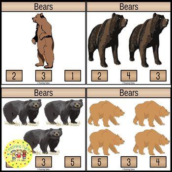 Bears Clip Task Cards