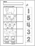 Bears Cut & Match Worksheets   Numbers 1-5
