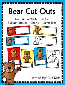Bears Cut Outs
