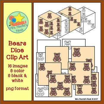 Dice Clip Art - Bears