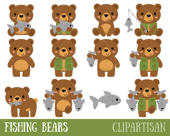 Fishing Clip Art, Bears