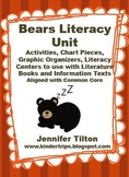 Bears Literacy Unit Activities, Chart Pieces, Literacy Centers-Common Core